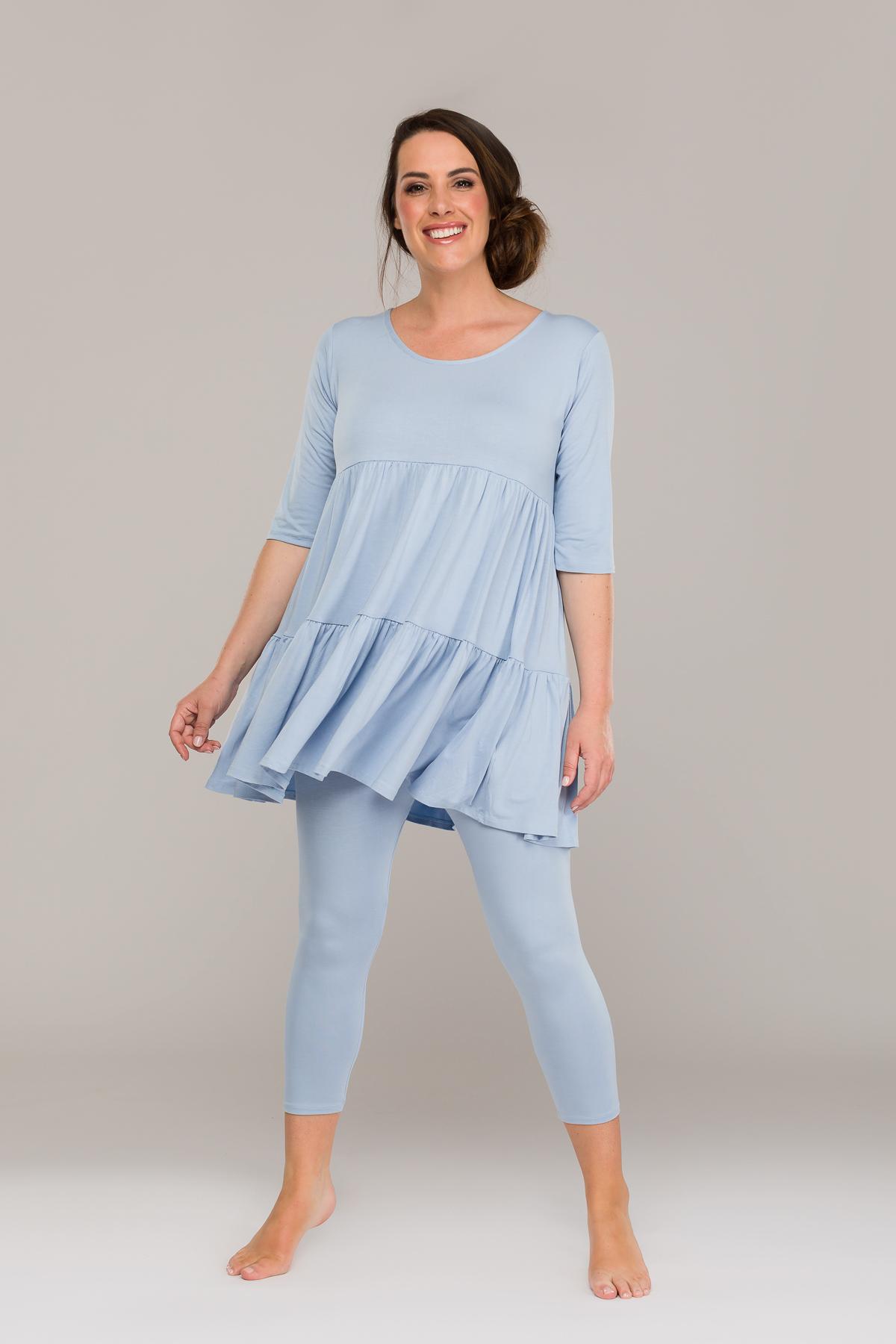 ANAHI THRILLED DRESS LIGHT BLUE